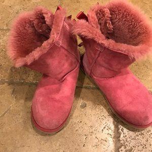 Ugg pink tie boots
